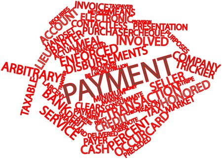 deemed: Abstract word cloud for Payment with related tags and terms