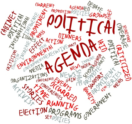 election debate: Abstract word cloud for Political agenda with related tags and terms