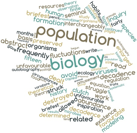 interchangeably: Abstract word cloud for Population biology with related tags and terms