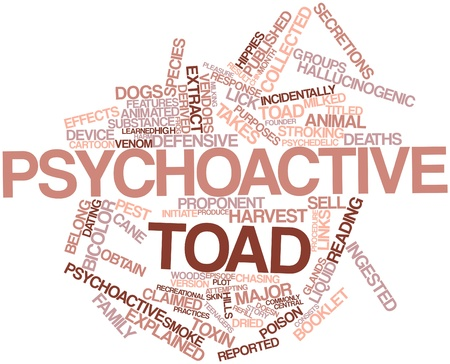founder: Abstract word cloud for Psychoactive toad with related tags and terms
