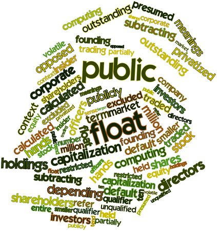 Abstract word cloud for Public float with related tags and terms Stock Photo - 16530696