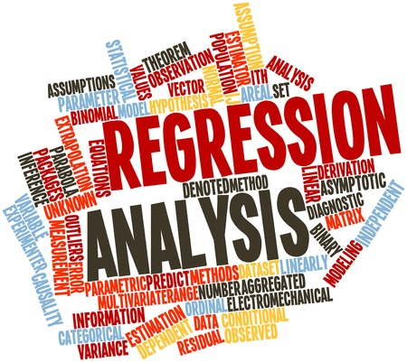 Abstract word cloud for Regression analysis with related tags and terms Stock Photo - 16529816
