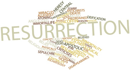 Abstract word cloud for Resurrection with related tags and terms Stock Photo - 16527387