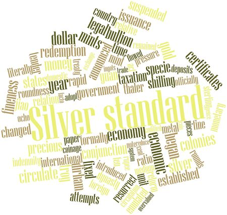 Abstract word cloud for Silver standard with related tags and terms