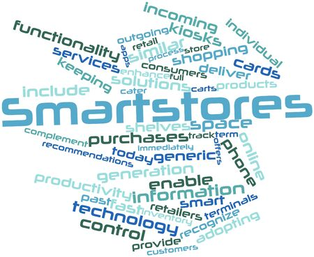 complement: Abstract word cloud for Smartstores with related tags and terms