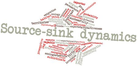 dispersal: Abstract word cloud for Source-sink dynamics with related tags and terms
