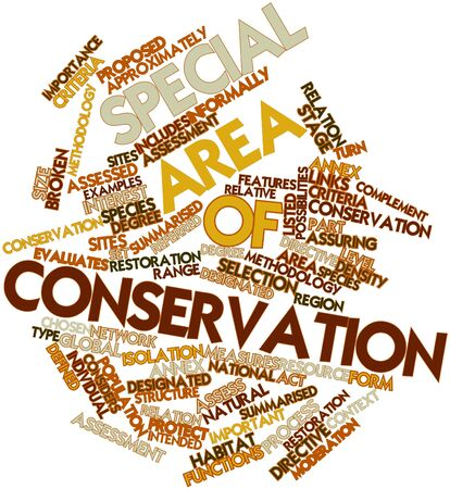 complement: Abstract word cloud for Special Area of Conservation with related tags and terms