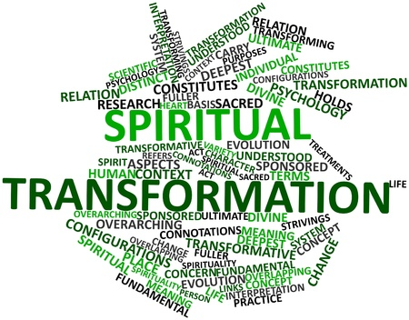 configurations: Abstract word cloud for Spiritual transformation with related tags and terms