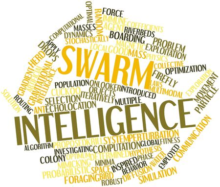 forwards: Abstract word cloud for Swarm intelligence with related tags and terms