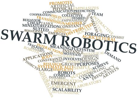 emphasized: Abstract word cloud for Swarm robotics with related tags and terms