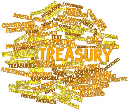 obtained: Abstract word cloud for Treasury with related tags and terms