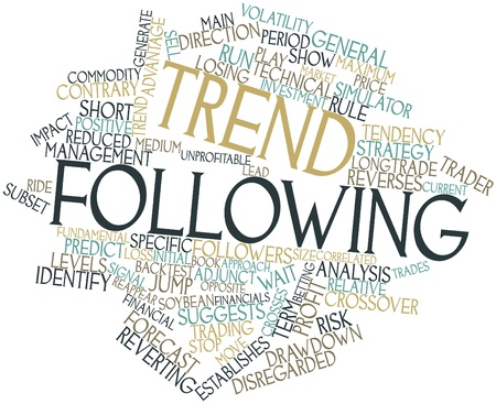 Abstract word cloud for Trend following with related tags and terms photo