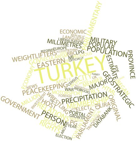 census: Abstract word cloud for Turkey with related tags and terms