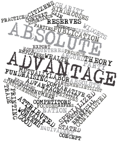 practiced: Abstract word cloud for Absolute advantage with related tags and terms
