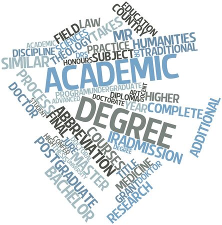 jurists: Abstract word cloud for Academic degree with related tags and terms