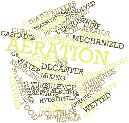 air diffuser: Abstract word cloud for Aeration with related tags and terms