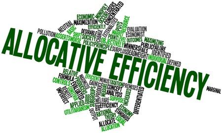 Abstract woordwolk voor Allocatieve efficiëntie met gerelateerde tags en voorwaarden Stockfoto