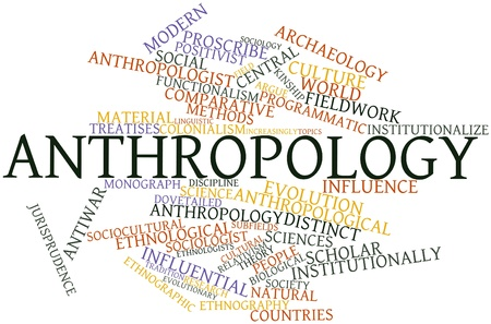 Abstract word cloud for Anthropology with related tags and terms Stock Photo - 16527747