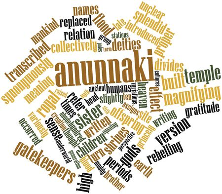rebelling: Abstract word cloud for Anunnaki with related tags and terms Stock Photo