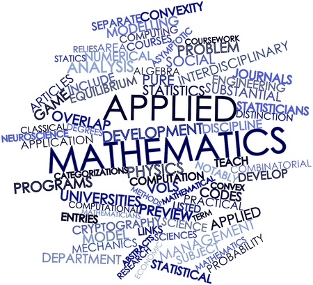 Abstract word cloud for Applied mathematics with related tags and terms