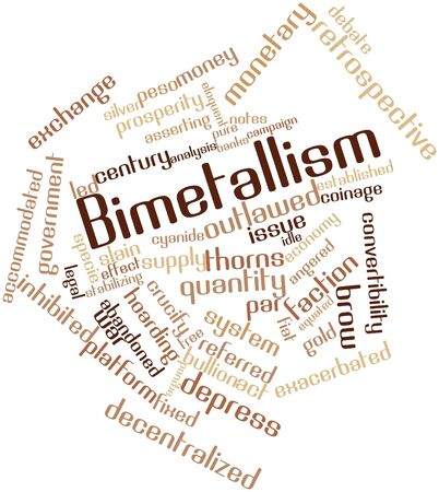 warns: Abstract word cloud for Bimetallism with related tags and terms Stock Photo