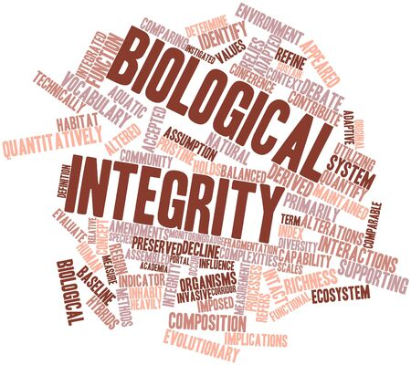 imposed: Abstract word cloud for Biological integrity with related tags and terms