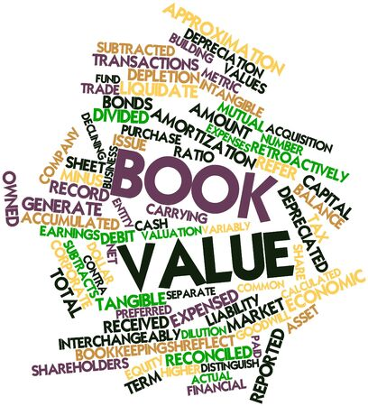 Abstract word cloud for Book value with related tags and terms Stock Photo - 16529677