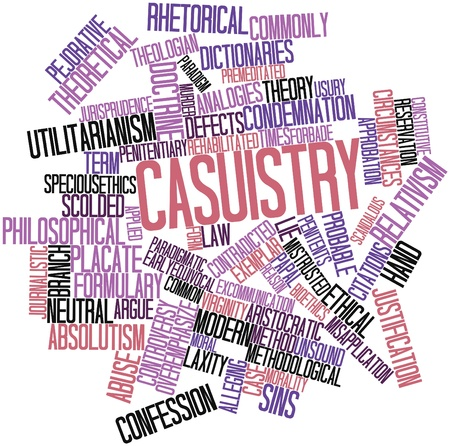 scolded: Abstract word cloud for Casuistry with related tags and terms