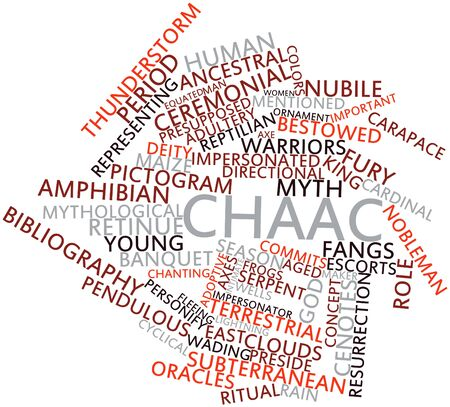 precursor: Abstract word cloud for Chaac with related tags and terms