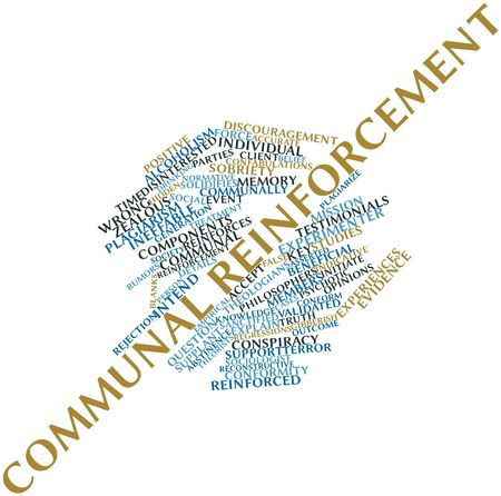 Abstract word cloud for Communal reinforcement with related tags and terms Stock Photo - 16527953