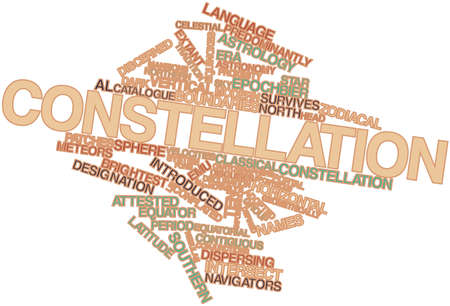 Abstract word cloud for Constellation with related tags and terms Stock Photo - 16527532