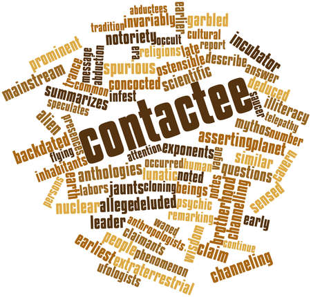 Abstract word cloud for Contactee with related tags and terms Stock Photo - 16530024