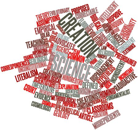 Abstract word cloud for Creation science with related tags and terms