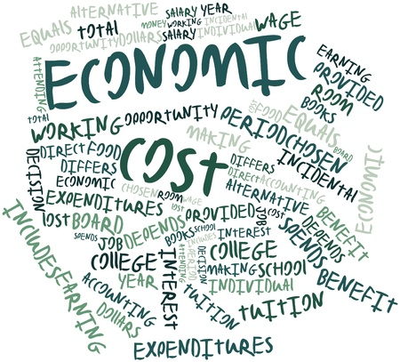 differs: Abstract word cloud for Economic cost with related tags and terms