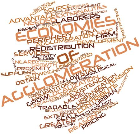 interchangeably: Abstract word cloud for Economies of agglomeration with related tags and terms