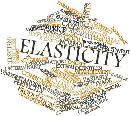 determinant: Abstract word cloud for Elasticity with related tags and terms