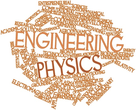 Abstract word cloud for Engineering physics with related tags and terms Stock Photo - 16530071