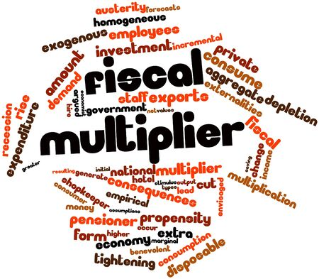 argued: Abstract word cloud for Fiscal multiplier with related tags and terms
