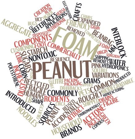 developed: Abstract word cloud for Foam peanut with related tags and terms
