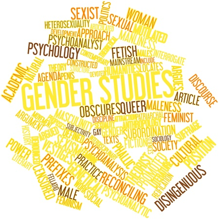 Abstract word cloud for Gender studies with related tags and terms