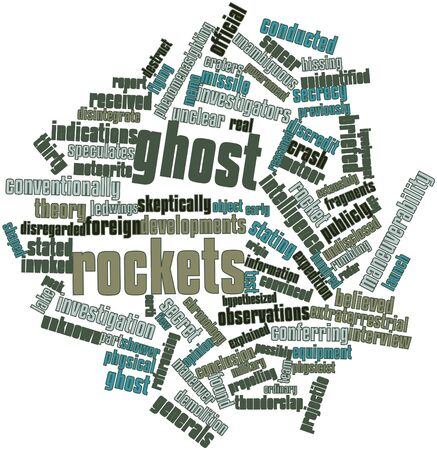Abstract word cloud for Ghost rockets with related tags and terms Stock Photo - 16530185