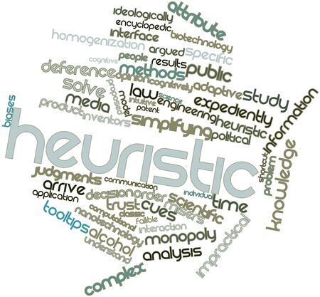 Abstract word cloud for Heuristic with related tags and terms Stock Photo - 16528567
