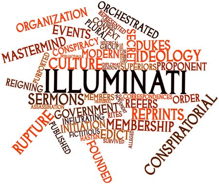 alleged: Abstract word cloud for Illuminati with related tags and terms