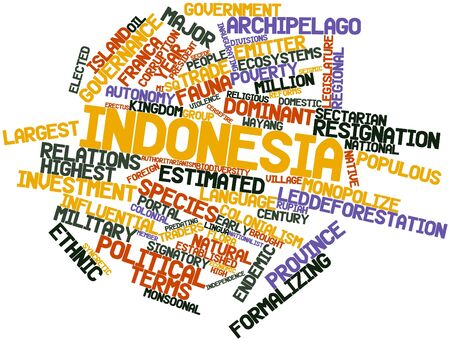 Abstract word cloud for Indonesia with related tags and terms Stock Photo - 16529305