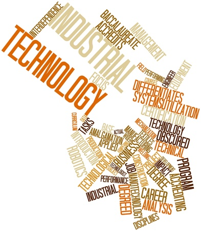 collegiate: Abstract word cloud for Industrial technology with related tags and terms