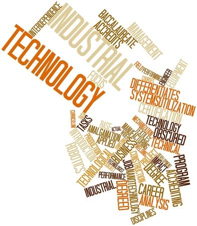 rigorous: Word cloud astratto per la tecnologia industriale con tag correlati e termini