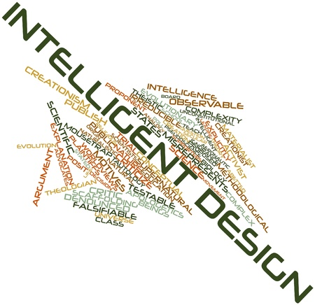 Abstract word cloud for Intelligent design with related tags and terms