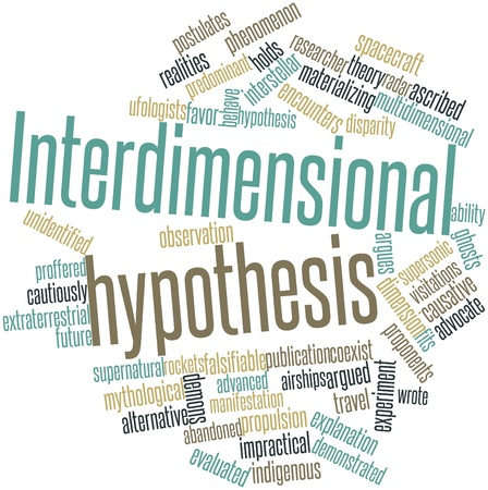 tendency: Abstract word cloud for Interdimensional hypothesis with related tags and terms