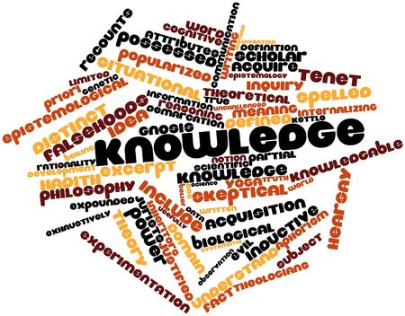 epistemological: Abstract word cloud for Knowledge with related tags and terms