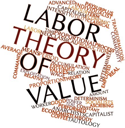 Abstract word cloud for Labor theory of value with related tags and terms photo